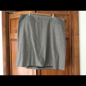 Talbots herringbone straight skirt